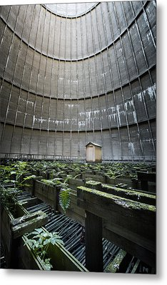 Metal Print featuring the photograph Little House Inside Industrial Cooling Tower by Dirk Ercken
