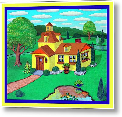 Little House On The Green Metal Print by Snake Jagger