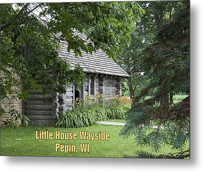Little House Wayside Card Metal Print