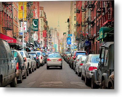 Little Italy Manhattan Metal Print by Diana Angstadt
