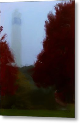 Little Joe In Morning Fog Metal Print