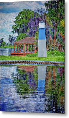 Metal Print featuring the photograph Little Lake Lightouse by Lewis Mann