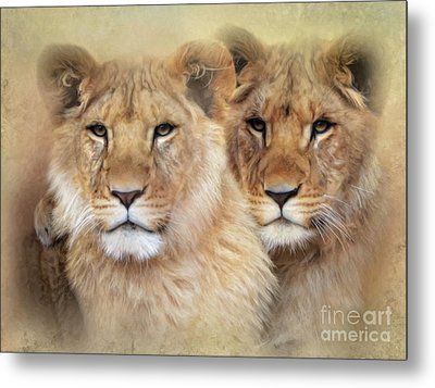 Metal Print featuring the digital art Little Lions by Trudi Simmonds