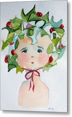 Little Miss Innocent Ivy Metal Print by Mindy Newman