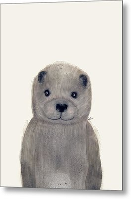Little Otter Metal Print