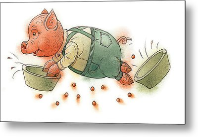 Little Pig Metal Print by Kestutis Kasparavicius
