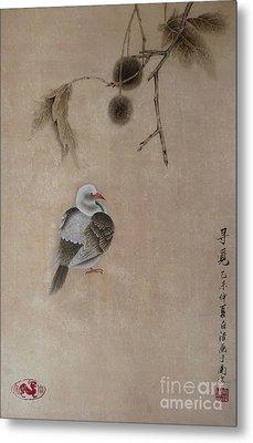 Little Pigeon Metal Print by Birgit Moldenhauer
