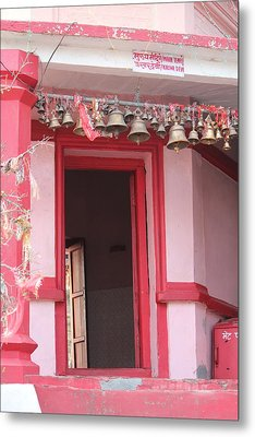 Little Pink Temple Up Close, Almora Metal Print by Jennifer Mazzucco
