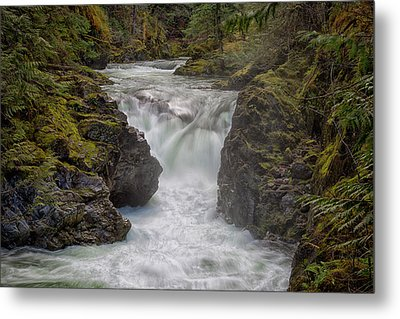 Little Qualicum Lower Falls Metal Print by Randy Hall