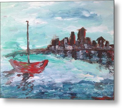 Coast Metal Print by Roxy Rich