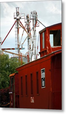 Little Red Caboose Metal Print by Jame Hayes