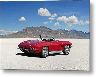 Metal Print featuring the digital art Little Red Corvette by Peter Chilelli