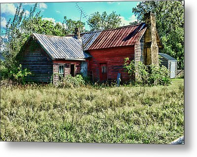 Metal Print featuring the photograph Little Red Farmhouse by Paul Ward