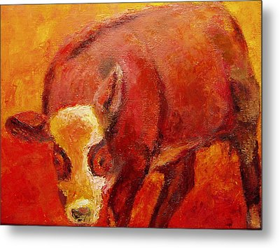 Metal Print featuring the painting Little Red by Marie Hamby
