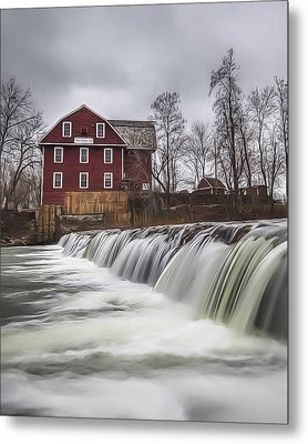 Little Red Mill Metal Print