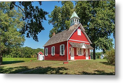Metal Print featuring the photograph Little Red School House by Charles Kraus