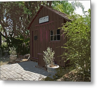 Little Red Schoolhouse Two Metal Print