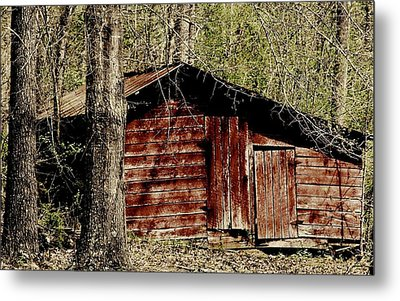 Little Red Shed Metal Print