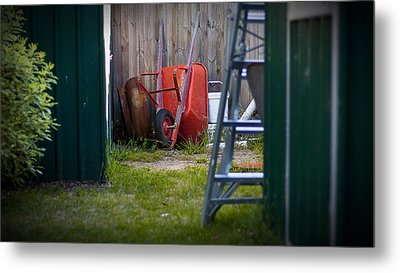 Metal Print featuring the photograph Little Red Wagon by Tim Nichols
