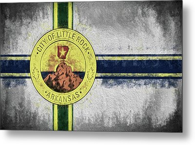 Metal Print featuring the digital art Little Rock City Flag by JC Findley