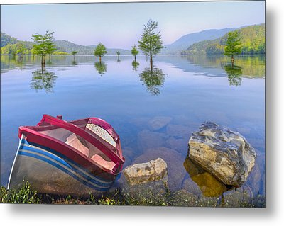 Little Rowboat Metal Print by Debra and Dave Vanderlaan