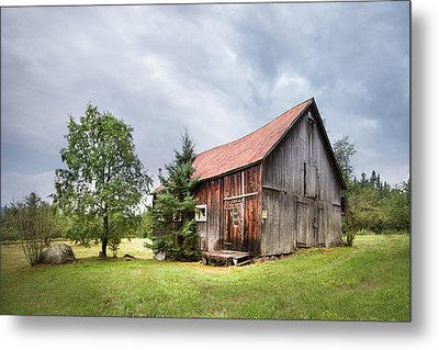 Little Rustic Barn, Adirondacks Metal Print by Gary Heller