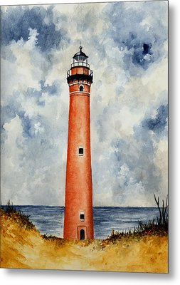 Little Sable Point Lighthouse Metal Print by Michael Vigliotti