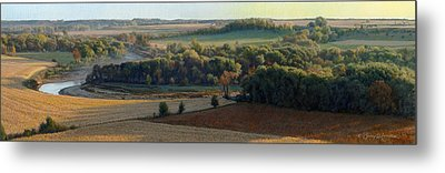 Little Sioux Autumn Sunrise Metal Print by Bruce Morrison