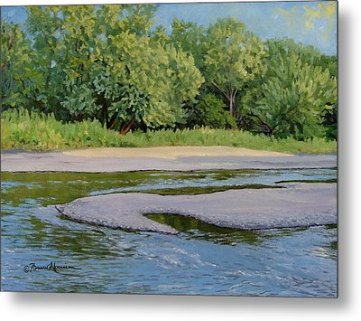 Little Sioux Sandbar Metal Print