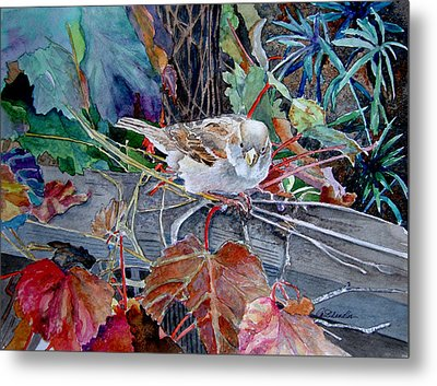 Metal Print featuring the painting Little Sparrow by Gail Chandler