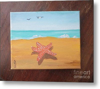 Little Star Fish Metal Print by Stella Sherman