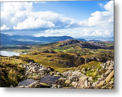 Metal Print featuring the photograph Little Stream Running Down The Macgillycuddy's Reeks by Semmick Photo