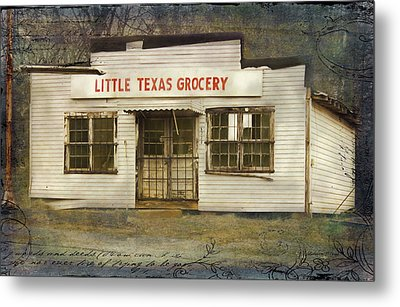 Little Texas Grocery Metal Print by Bellesouth Studio