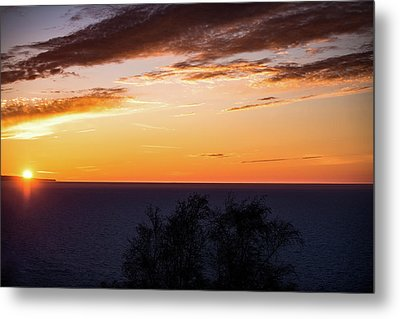Metal Print featuring the photograph Little Traverse Bay Sunset by Onyonet  Photo Studios