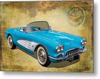 Little Vette Metal Print