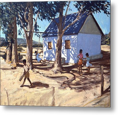 Little White House Karoo South Africa Metal Print by Andrew Macara