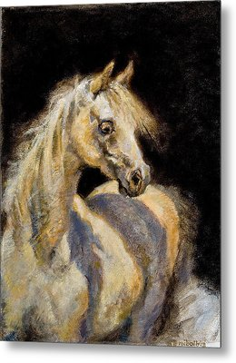 Little White Mare Metal Print