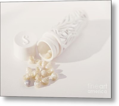 Metal Print featuring the photograph Little White Seashells by Cindy Garber Iverson
