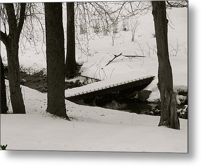 Little Winter Crossing Metal Print by Debra     Vatalaro