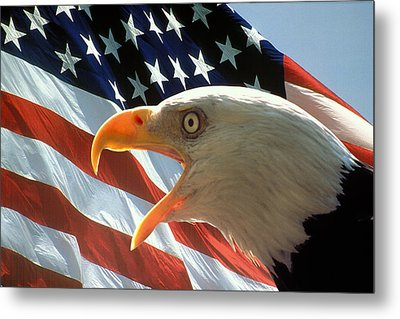Live Free Or Die Metal Print by Carl Purcell