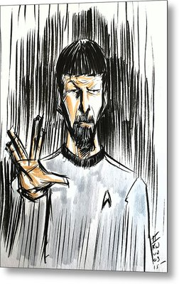 Metal Print featuring the drawing Live Long And Prosper...... by Tu-Kwon Thomas