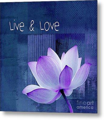 Live N Love - 123 Metal Print