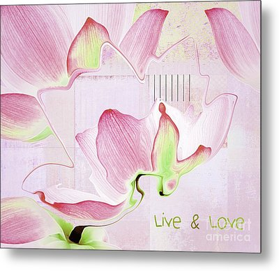 Metal Print featuring the digital art Live N Love - Absf17 by Variance Collections