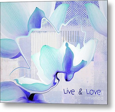 Metal Print featuring the photograph Live N Love - Absf43 by Variance Collections