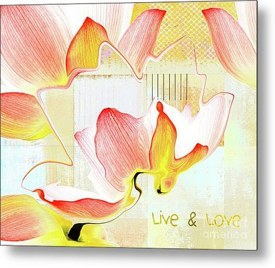 Metal Print featuring the photograph Live N Love - Absf44b by Variance Collections