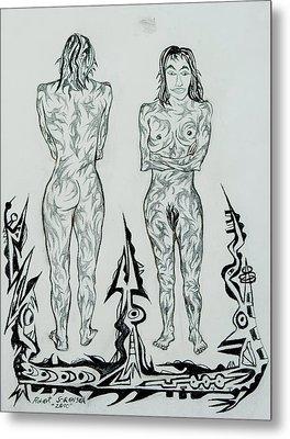 Live Nude 43 Female Metal Print by Robert SORENSEN