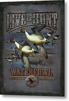 Live To Hunt Pintails Metal Print by JQ Licensing