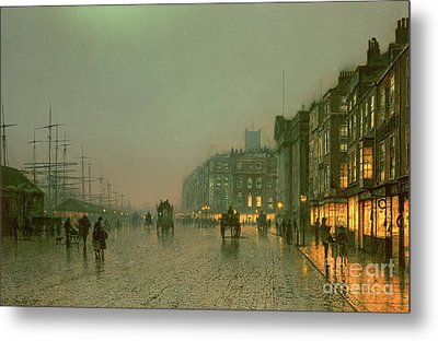 Liverpool Docks From Wapping Metal Print