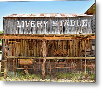 Livery Stable Metal Print by Ray Shrewsberry