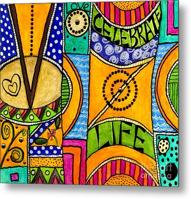 Living A Vibrant Life Metal Print by Angela L Walker